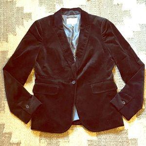 Banana Republic black velvet blazer jacket size 10